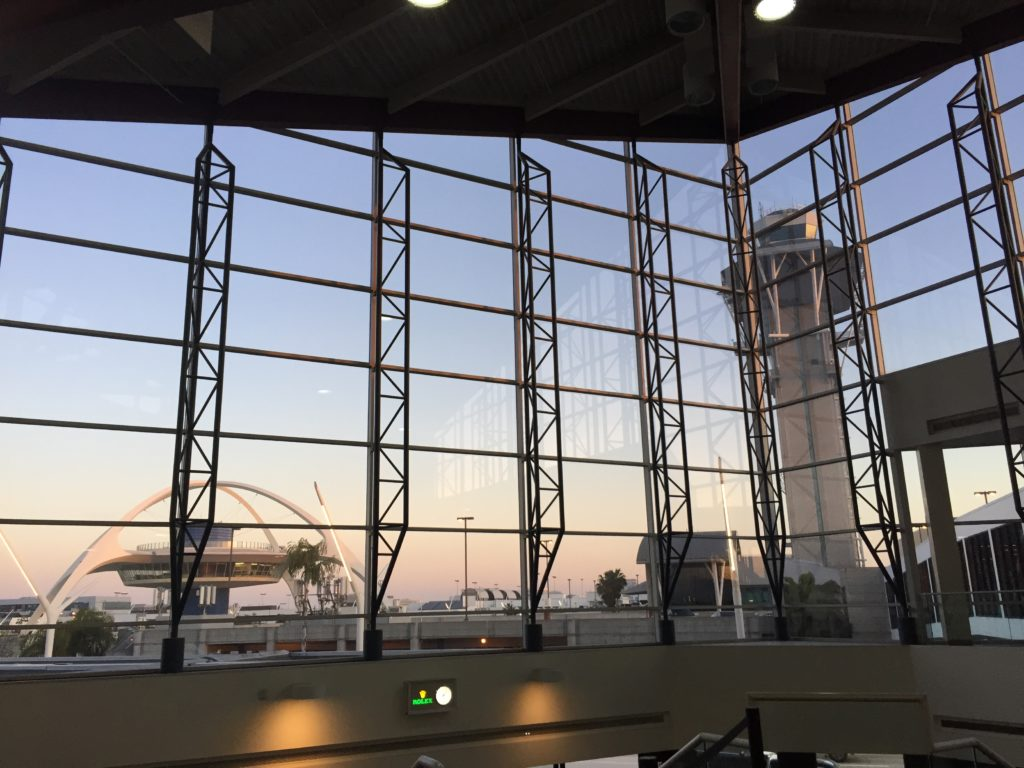 Photograph of the view from the Virgin Atlantic Terminal in LAX airport. I took this picture on the day I left L.A.
